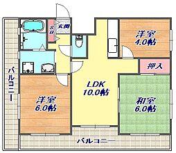 ロイヤル浜芦屋[5階]の間取り