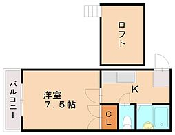 ロリエンフラットⅡ[1階]の間取り