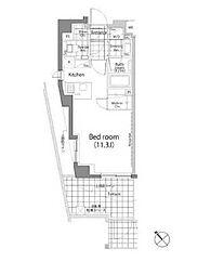 東急東横線 中目黒駅 徒歩2分の賃貸マンション 1階ワンルームの間取り