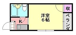プレアール平野西[308号室]の間取り