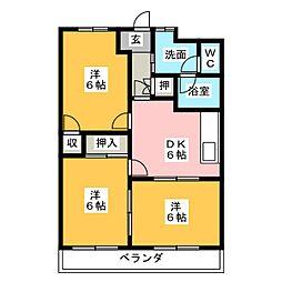 エクセリーヌK−II[2階]の間取り