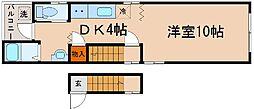 兵庫県神戸市中央区吾妻通6丁目の賃貸アパートの間取り