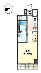 愛知県名古屋市西区児玉3の賃貸マンションの間取り