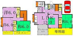 [一戸建] 千葉県柏市松ケ崎 の賃貸【/】の間取り