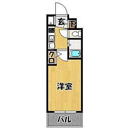 福岡県福岡市博多区堅粕1の賃貸マンションの間取り