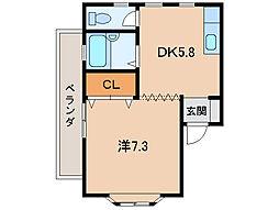 スカイラーク12[2階]の間取り