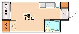 あさともハイツ[3階]の間取り
