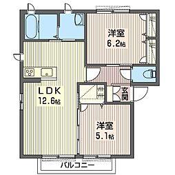 ミレニアムヒルズC[2階]の間取り
