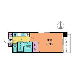 クレジデンス新栄[5階]の間取り