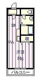 エスシーマンション[301号室]の間取り
