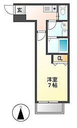 CASA松原[1階]の間取り