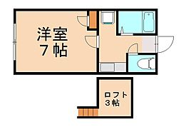 TECHIII[2階]の間取り