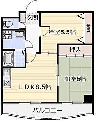 クラブハウス熊本[403号室]の間取り