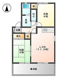 セジュールミキ A棟[1階]の間取り