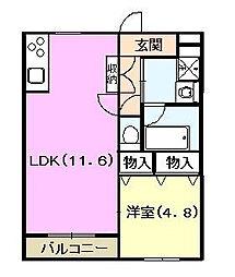 クラフトハウスI[1階]の間取り