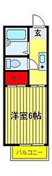 竹林ナカノA[201号室]の間取り