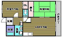 マンションサンライズ弐番館[2階]の間取り