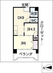 第3宮地マンション記念橋[3階]の間取り