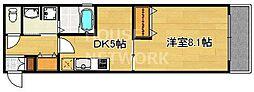 ベラジオ京都鴨川2nd[302号室号室]の間取り