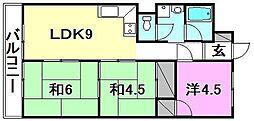 松山グランドハイツ[405 号室号室]の間取り