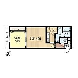 JR函館本線 発寒中央駅 徒歩7分の賃貸マンション 3階1LDKの間取り
