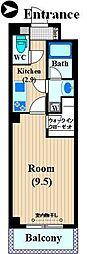 FIRST PLACE KOSUGI 2階1Kの間取り
