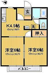 メゾン橋本[205号室号室]の間取り