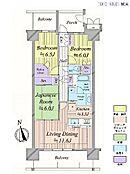 3LDK・専有面積74.71平米・バルコニー面積17.4平米