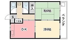 甲子園ファイブ[401号室]の間取り