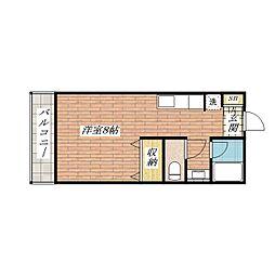 パルプラザ茨木[3階]の間取り
