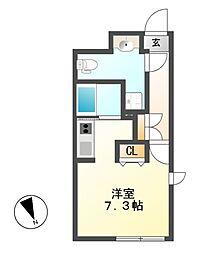 愛知県名古屋市東区葵3の賃貸マンションの間取り