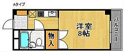 アビヨンKAB1[8階]の間取り