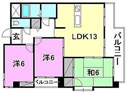 ロクス持田[102 号室号室]の間取り