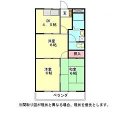 愛知県一宮市三条字西蛭子の賃貸マンションの間取り