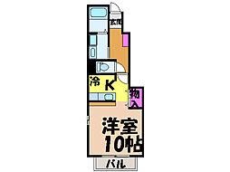 愛媛県松山市本町5丁目の賃貸アパートの間取り