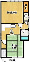 寺尾アパート[101号室]の間取り