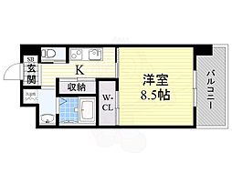 PHOENIX Clove Tomoi 6階1Kの間取り