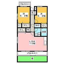 アルストロメリア[1階]の間取り