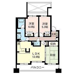ファストジュール浦和別所[9階]の間取り