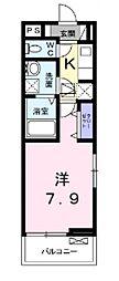 メゾン・シンシア[201号室号室]の間取り