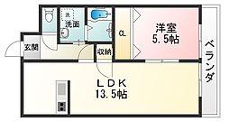 滋賀県甲賀市水口町貴生川2丁目の賃貸アパートの間取り