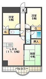 サン・クレストマンション[2階]の間取り