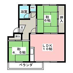 マンションことぶき 松降[3階]の間取り