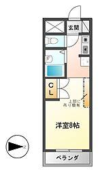 ユーノディア6[2階]の間取り