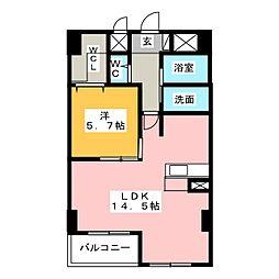 エルミタージュ[2階]の間取り