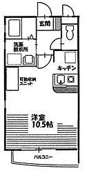Nest Hayashi[203号室]の間取り