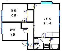 パナハイツエデン[1階]の間取り
