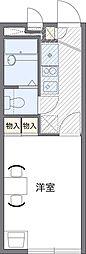 埼玉県さいたま市中央区新中里2丁目の賃貸アパートの間取り