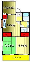 恩田コーポ[3階]の間取り