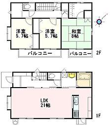[一戸建] 埼玉県上尾市浅間台3丁目 の賃貸【/】の間取り